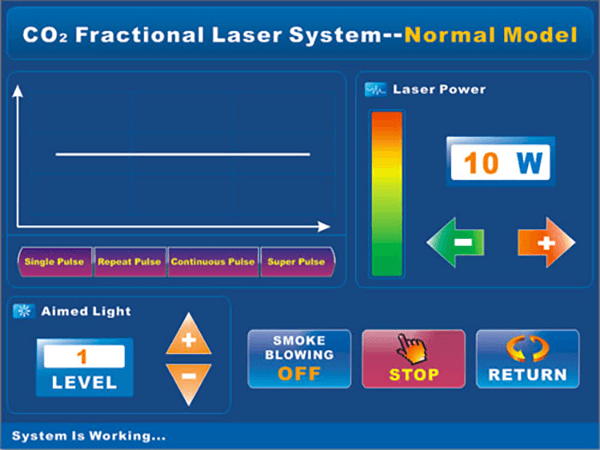 DT-803 Co2 Fractional Laser Glass tube Continous Pulse Output