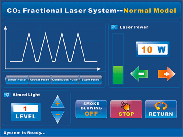 DT-803 Co2 Fractional Laser Glass tube Ultra Pulse Output