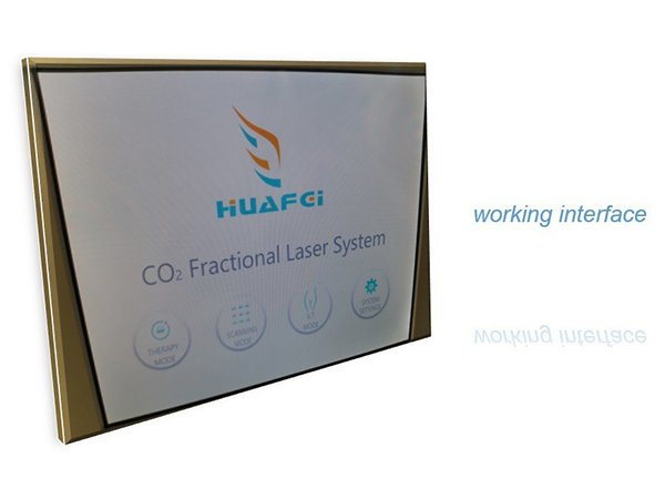 HuafeiMedical Co2 Fractional laser Software interface
